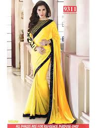 buy online yellow color bollywood replica designer party wear