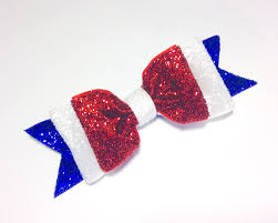 fourth of july hair bows easy 4th of july glitter hair bow the hairbow center