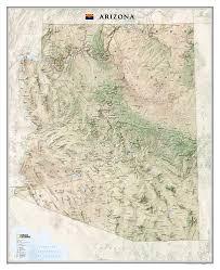 State Map Of Arizona by Arizona