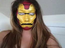 iron man face paint makeup artist insram crisyh makeup artists iron man