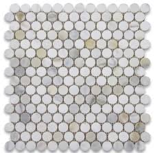 x calacatta gold penny round mosaic tile polished chip size  with x calacatta gold penny round mosaic tile polished chip size  from houzzcom