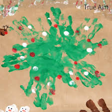 homemade handprint christmas wrapping paper true aim