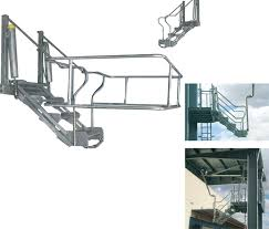 Platform Stairs Design Gasso Folding Stairs And Platforms Safety Till The Last Step