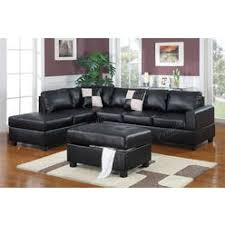 Black Leather Sofa With Chaise Tosh Furniture Modern Black Leather Sectional Living Room