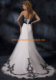 robe de mari e noir et blanc robe de mariée organza blanc appliques dentelle