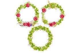 halloween wreath transparent background floral wreath clipart by evgeniias art design bundles