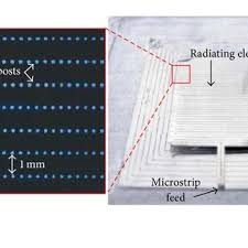 view layout alloy layout of a reconfigurable cp microstrip array and the finished