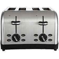 Home Outfitters Toasters Amazon Com Hamilton Beach Smart Toast Extra Wide 4 Slice Slot