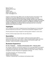 Cio Sample Resume by Best Cio Sample Resume With Entry Level Business Intelligence