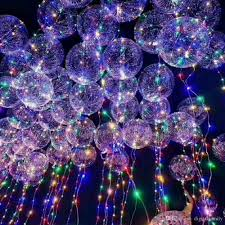new bobo ball wave led line string balloon light with battery for