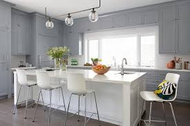 pictures of white kitchen cabinets with island gray shaker kitchen with white island transitional kitchen