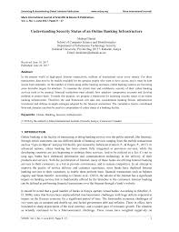 Inno Infr by Understanding Security Status Of An Online Banking Infrastructure