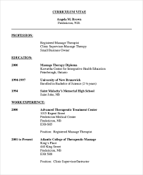 Sample Resume For Massage Therapist by Sample Massage Therapist Resume 7 Examples In Pdf