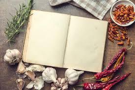 livre de cuisine vierge ingrédients et livre de recettes vierge photographie jirkaejc