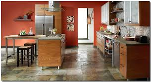 knotty pine kitchen cabinets with red accents paint ideas best on