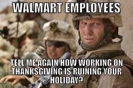 walmart vs working on thanksgiving meme war