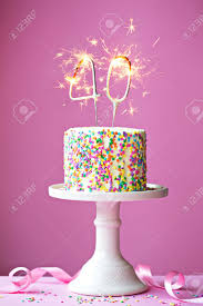birthday cake sparklers 40th birthday cake with sparklers stock photo picture and royalty