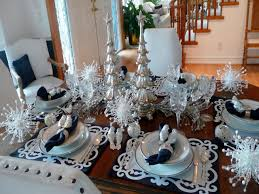 informal dining room furniture silver christmas table settings