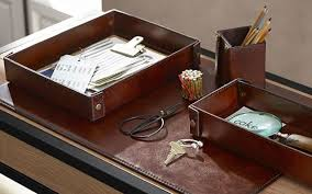 Office Desk Accessories Set Leather Desk Accessories Sets U2014 All Home Ideas And Decor Leather
