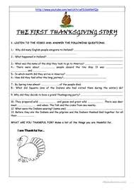 10 free esl thanksgiving story worksheets