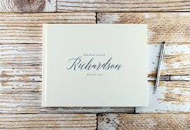 engraved wedding album wedding guest book custom guest book personalized guest book