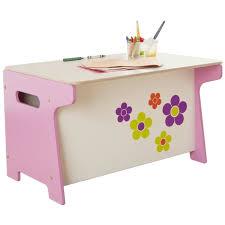 coffre a jouet bureau coffre à jouets et bureau motifs fleurs 60 x 8 achat vente