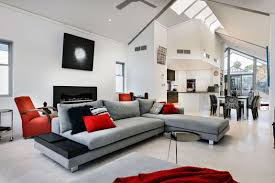 grey white red living room including and gray ideas the best 2017
