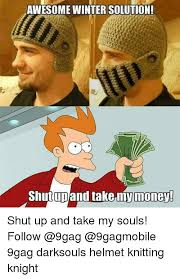 Knitting Meme - awesome winter solution ut up and take my money shut up and take
