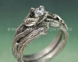 Engagement And Wedding Rings by Wedding Rings And Bands Jewelry With Natural Themes By Bandscapes