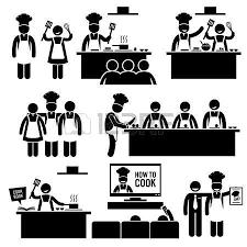 pictogramme cuisine pictogramme cours de cuisine cuisiner chef stick figure
