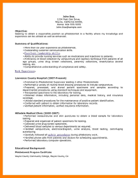 No Experience Phlebotomy Resume Phlebotomy Resumes Essay About How To Write An Essay
