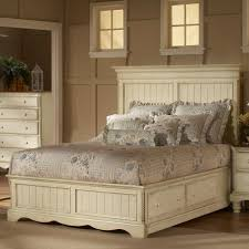 Wood King Platform Bed With Drawers Wilshire Wood Platform Storage Bed In Antique White Humble Abode