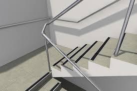 stair internal handrail transitions over intermediate landings