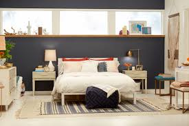 Modern Blue Bedrooms - target chapter 7 navy blue accent wall bedroom makeover emily