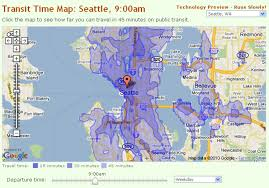 Seattle On Map by Seattle Map How Far Can You Get In 45 Minutes Visual Ly