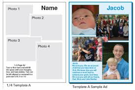 ad template choices and samples ola yearbook