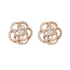gold earrings online gold pave diamond flower stud earrings earrings elias allan