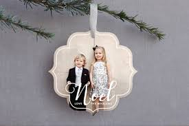 white noel ornament photo cards by hooray creative