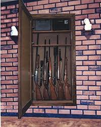 in wall gun cabinet best secret gun safe mirror we just found it gun safe ch
