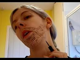 basic beard make up tutorial how to do a goatee ladytache full beard and 5 o clock shadow you