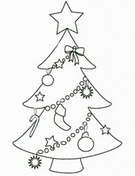christmas tree outline coloring pages coloring pages