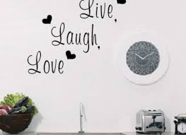 Home Decor For Walls Live Laugh Love Inspirational Quote Wall Stickers Vinyl Decor