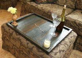 ottoman ottoman tray top leather espresso tray top storage