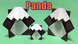 origami panda easy instructions how to make a paper panda easy