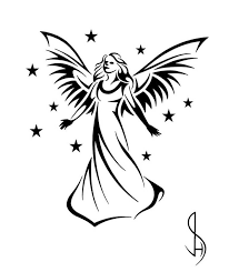 tattoo angel simple black angel drawing at getdrawings com free for personal use black