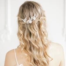 wedding hair pins gold pearl flower wedding hair pins x3 blossom britten