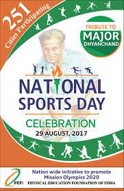 national sports day celebration 2017 p e f i ngo for physical