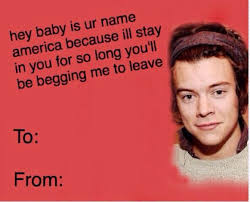 Valentines Day Meme Card - funny valentines day cards tumblr one direction
