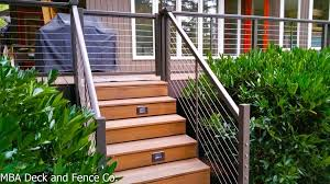 stainless steel cable railing system or not mba deck and fence