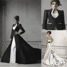 dh com wedding dresses black sleeved high collar wedding dresses taffeta